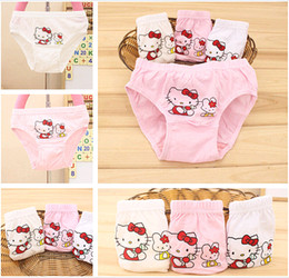 Wholesale Cute Little Underwear - 2015 Summer Clothing Hello Kitty Cute Children's Underwear Kids Little Girls' Cotton Underpants Student Briefs Knickers In bulk 2T-10