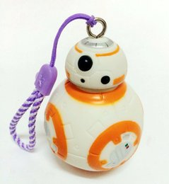 Wholesale Carabiner Keychain Strap - 2.2inch new Star Wars The Force Awakens BB8 BB-8 R2D2 Droid Robot keychain Action Figure stormtrooper Clone Strap New year toys 01326