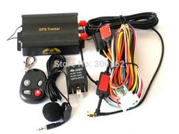 Wholesale Web Band - TK103B Vehicle GPS tracker Remote Control Portoguese Manual Quad band SD card GPS 103 PC&web-based GPS system