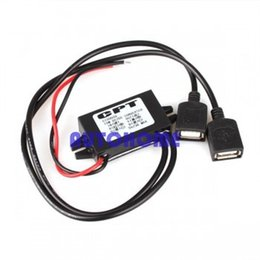 Wholesale Usb Powered Dvd - 5 X New Car Power Supply Regulator 12V to 5V USB DC-DC Buck Power Converter order<$18no track