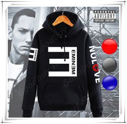 Wholesale Hoodie Styles Men - New Cool Eminem Style Man Long Sleeves Hoodies Sweatshirts Trendy Male Shirt Hip Hop Sport Sweater Fleece Coat Streetwear Hot FASHION SALE