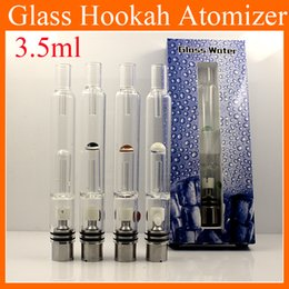 Wholesale E Pipe Clearomizer - New Pyrex Glass Hookah Atomizer Dry Herb Wax Vaporizer Pen Water Filter Pipe E Cigarette Bongs Clearomizer Tanks ATB031