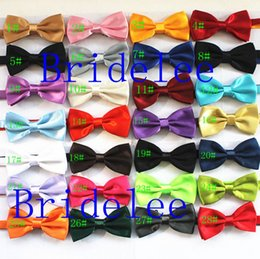Wholesale Mens Silk Bow Ties - 50pcs Lot Mixed Color Brand NEW Mens Imitation Silk Tuxedo Adjustable Fashion Neck Bowtie Bow Ties Men Wedding Party Necktie Butterfly