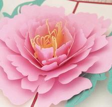 Wholesale Birthday Wishes Samples - 2018 new arrival,The peony card paper cards 3D high-grade refined creative stereo flower blessing Christmas gift card.