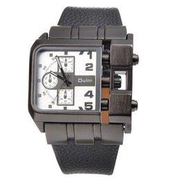 Wholesale Antique Military Buckles - OULM 3364 Watches Men Luxury Brand Quartz Watch Squartz Dial Leather Strap Male Military Antique Clock Relojes Hombre