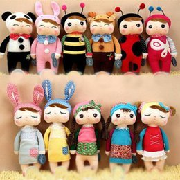 Wholesale Video Game Collectibles - 40pcs 30cm Metoo Angela plush toys Kawaii Tiramisu Rabbit stuffed collectibles dolls toy Cartoon Movies & TV kids Christmas gifts 201511HX