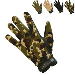 Wholesale wholesale military gloves - Men Outdoor Sports Mittens Fashion Camouflage Military Tactical Airsoft Shooting Hunting Full Finger Gloves