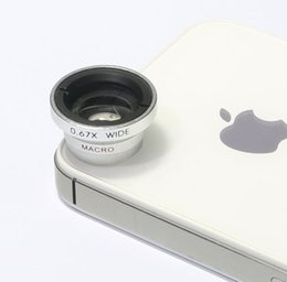 Wholesale Macro Lens S3 - Wholesale-0.67 Wide Angle+Macro Camera Lens for Samsung Galaxy S3 S4 IPHONE 5 5S 5C