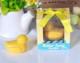 Wholesale Baby Decorative Soap - In Stock Wedding favors scented Yellow Duck Soap Cute snowflake Soap Decorative Baby Showers Soaps Party Gifts