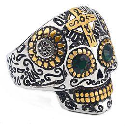 anillos tibetanos de la joyería de la turquesa Rebajas Los hombres frescos de talla gótica anillo de hombre de acero inoxidable de alta calidad Detalle Biker Skull Jewelry para niño