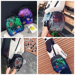 Wholesale Handbag Lips - Girls Sequins Lip Backpack Women Shoulder Bag Schoolbags Handbag Satchel Bag Cute Bling Mini Backpacks 10pcs OOA3801
