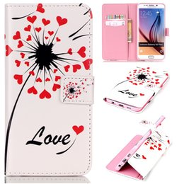 Wholesale Skin Galaxy Ace Plus - Relief Painted patterns Skin Book Leather Case with Stand and Card Holder for Samsung Galaxy J1 Ace J110 J2 J200 S6 Edge + Plus Note 5