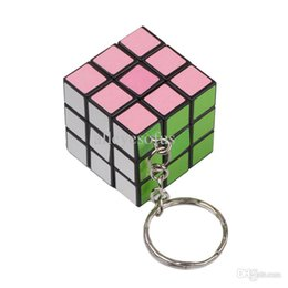 Wholesale Mini Key Chain Cube Toys - Wholesale-Drop Shipping Trendy CUTE Mini Toy Cube Magic Game Puzzle Key Chain Carrying