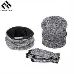 Wholesale Hat Scarf Glove Sets Women - 3 Pieces Set New Brand Women Winter Hat And Gloves Cotton Unisex Winter Hat Scarf Gloves Solid Hat And Scarf Set For Women Men