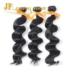 Wholesale Cheap Virgin Brazilian 3pc - Cheap Brazilian Loose Wave Wavy Hair Unprocessed Virgin Human Hair Weaves On Sale Free Shipping 3pc lot