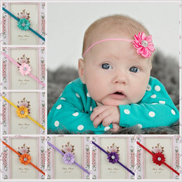 2019 piezas de cabeza de flor de bebé 17 colores Baby Girls Cintas para la cabeza Mezcla de flores bebés Cintas para la cabeza Infant Toddler Hair Band Accesorios Head Piece Hair Accessories Headwear KHA69 piezas de cabeza de flor de bebé baratos