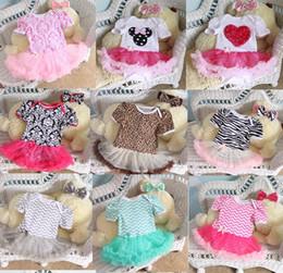 Wholesale Girls Zig - 2015 Newborn Chevron Tutu Romper Dress & headbands headwrap Toddler Zig zag Ruffles Tutu Rompers Plain tutu Jumpsuits baby Romper Dress