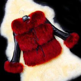 Wholesale Ladies Fox Leather Jackets - Wholesale Women Coat Leather Faux Fur Coats Winter Jacket Mink Plus Size Casual Party Elegent Fashion Warm Outwear Ladies 34