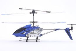 Helicóptero de control remoto de aleación online-Original Syma 3.5CH Rc Helicopter Helicóptero Radio Control Metal S107G aleación fuselaje R / C helicóptero con gyro