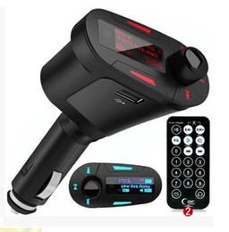 Reproductor de mp3 con control remoto online-3 colores del LCD Kit del coche Reproductor de música MP3 Transmisor de radio inalámbrico Modulador de radio con USB SD MMC + Control remoto Envío gratuito