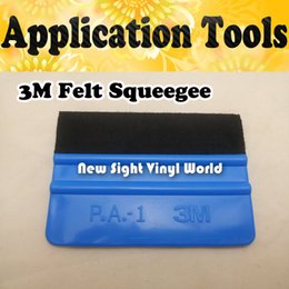 Wholesale 3m Vinyl Wrapping - Soft Flexible 3M Felt Vinyl Squeegee Car Application Tools 3M Felt Scraper Car Wrapping Tool 100 pcs Lot