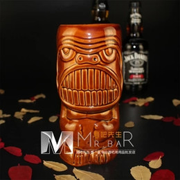 Wholesale Ceramic Furnishing Articles - 2016 New Collection Bar Furnishing Articles Tiki Beer Mug Hawaii Home Decoration Creative Ceramic Cocktail Cup