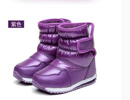 Wholesale Flower Shoes For Babies - New Thicken Warm plush child boots shoes for baby toddler shoes winter boys girls snow boots shoes classical kids snow boots