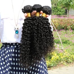 Wholesale Indian Princess Hair - Princess Hair!Brazilian Hair Kinky Curly Extensions Weaves 6A Grade 3Pcs Unprocessed human hair brazilian hair weave Bundles