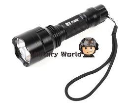 Wholesale Cree Flashlight Reflector - Tactical Airsoft Military Aluminium Reflector MX Power CREE Q5 LED 3 Mode 200 Lumens 3.7V-4.2V 18650 LED Flashlight Black order<$18no track