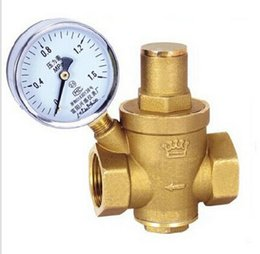 Wholesale DN20 quot Brass water pressure regulator with pressure gauge pressure maintaining valve water pressure reducing valve