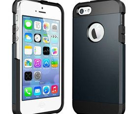 Wholesale Iphone Armour - Luxury Slim Armor Tough Armour Shell Bag Defender Case Hybrid TPU + PC Hard Shockproof Back Cover For Apple iPhone 5 6 6S Galaxy S5 S6