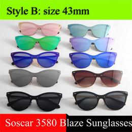 Wholesale Brand Wholesale - UV400 Brand Designer Sunglasses for Women Fashion Men Polarized Sunglasses 3580 Blaze Sunglasses Gafas de sol Excellent Quality with Box