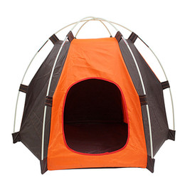 Wholesale Small Dog Beds For Sale - Wholesale- Hot sale Outdoor waterproof Pet tents Portable Folding Pet For Small Dog Cat House Puppy Bed Cage Playpen Windproof 1pcs
