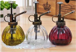 Wholesale Glass Zakka - Wholesale - High wuality 8 colors Retro glasses sprayer,Zakka garden watering equipment, 220ML watering Cans.free shipping