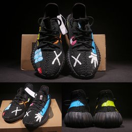 Wholesale Lighted Shoes Kids - Free Shipping Kids Boost 350 V2 Zebra Core Black Red White Shoes,Boys Girls Sply 350 v2 zebra Size 28-35 Come With Box XZ01