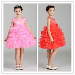 Wholesale Elegant Evening Kids Dresses - Retail Flower Girl Dresses For Weddings Elegant Ball Gown Free Shipping Girls Princess Dress Kids Evening Gowns
