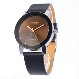 Wholesale Sinobi Casual - 2015 New SINOBI Watches Luxury Brand Leather Strap Watch for Men Ultra-thin Quartz Analog Military Watch