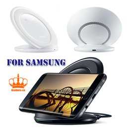 Wholesale Fans Notes - Wireless Charger Fast Charging Pad with Air Fan Black & White for Samsung S8 Note8 Galaxy S7 S7 Edge S6 Edge Plus Note 5