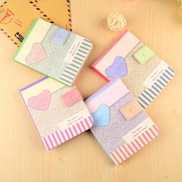 Wholesale Journals Free Shipping - 2016 Cute Kawaii Cartoon love heart Journal Notebook Diary Planner Notepad for Kids Gift Korean Stationery Free shipping