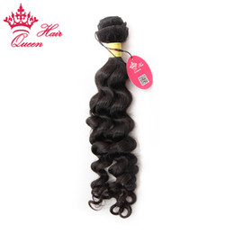 Wholesale More Wavy Virgin Hair - Queen Hair 100% Virgin Unprocessed Peruvian Human Hair Weave Wavy Peruvian Virgin Hair More Wave 1 pcs lot