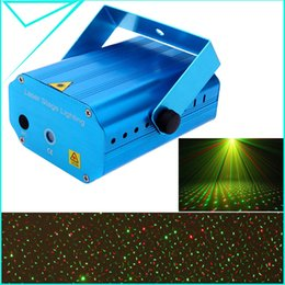 Wholesale Stars Light Show Laser - Wholesale-Mini Voice Automatic Control R&G Laser Lights Lighting Projector Disco DJ Stage Xmas Party Show Club Star Bar + Tripod