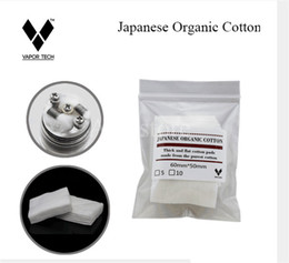 Wholesale Wholesale Japanese Accessories - Original Vapor Tech Mini pack 100% Japanese pure flavor organic cotton Wicks japan imported pads For Rebuild RDA atomizer coil DIY accessory