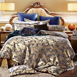 Wholesale King Comforter Sets For Cheap - Down Comforter Hot Sale Full Twin for Queen King All Home 2016 Hot Sale Cheap Elegant Floral Print Jacquard Sateen 4 Pieces Duvet Cover Sets