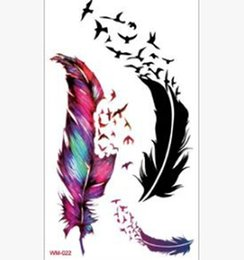 Wholesale Temporary Tattoo Sticker Sex - Water Transfer Flash Fake Tattoo Sticker Sex Products Waterproof Temporary Tattoo Sticker The Wind Wind Blown Feathers