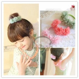 Wholesale cheap head bands - 2015 New Arrival Girls' Wreaths Beautiful In Stock Chrysanthemum Headpiece Cheap Birthday Gift Hair Bands High Quality Hairpin Online Sale