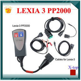 Wholesale Lexia Free Shipping - Wholesale-Lexia 3 Car Diagnostic tool for Citroen Peugeot PP2000 With Multi-languages diagbox Obd obdii obd2 Scanner Free shipping