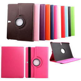 Wholesale Case For Galaxy Tab3 - 360 Rotating Flip PU Leather Smart Cover Stand Case For iPad 2 3 4 5 6 Air Samsung Galaxy Tab Pro S Tab3 Tab4 10.1 10.5 P5200 T800 T520 P600