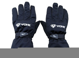 Wholesale Waterproof Warm Gloves For Women - YOHE 100% waterproof windproof electric motorcycle gloves warm the whole winter warm gloves for men and women black and red