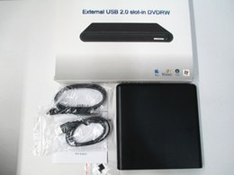 Wholesale Laptop Enclosure - External USB Slim Slot DVD +RW CD+RW DL Writer Burner Drive For PC Laptop enclosure case
