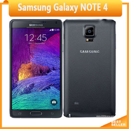 Wholesale 3g Androids Phones - Original Unlocked Samsung Galaxy Note 4 Cell phone 16MP Camera 3GB RAM 32GB ROM 3G 4G 5.7'' Touch Refurbished Phone